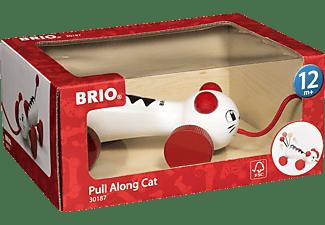 BRIO Nachzieh-Katze Nachziehspielzeug, Mehrfarbig