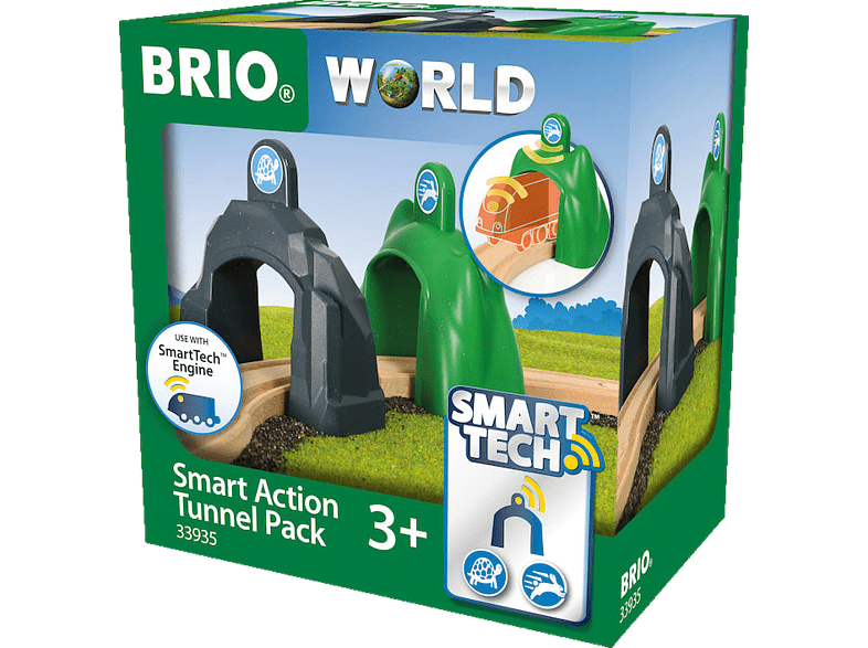 BRIO Smart Tech Action Tunnel Spielset, Mehrfarbig