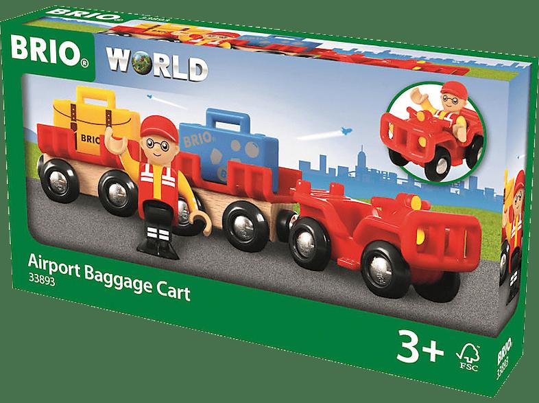 BRIO Flughafen-Gepäckwagen Spielset, Mehrfarbig