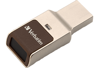 VERBATIM Fingerprint Secure USB Stick (Silber, 64 GB)