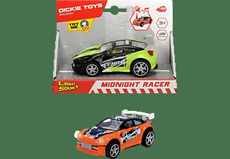 DICKIE TOYS Midnight Racer, 2-sort. Spielzeugauto Grün/Schwarz, Orange/Blau