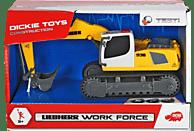 DICKIE TOYS Liebherr Work Force, 2-sort. Spielzeugbagger, Farbauswahl nicht möglich