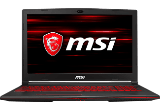 MSI Gaming Notebook GL63 8SC-020DE schwarz/rot (0016P8-020)
