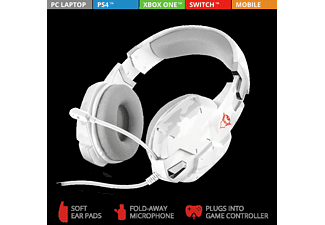TRUST GXT 322W, Over-ear Gaming Headset Weiß/Camouflage