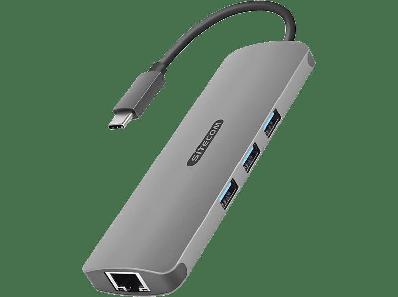SITECOM USB-C Multi Adapter Multi Adapter, Grau