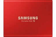 SAMSUNG Portable SSD T5, 1 TB SSD, 2,5 Zoll, extern, Rot