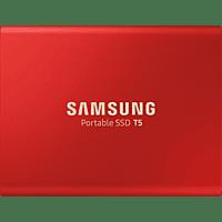 SAMSUNG Portable SSD T5, 1 TB SSD, 2.5 Zoll, extern, Rot
