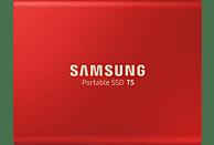 SAMSUNG Portable SSD T5, 500 GB SSD, 2,5 Zoll, extern, Rot
