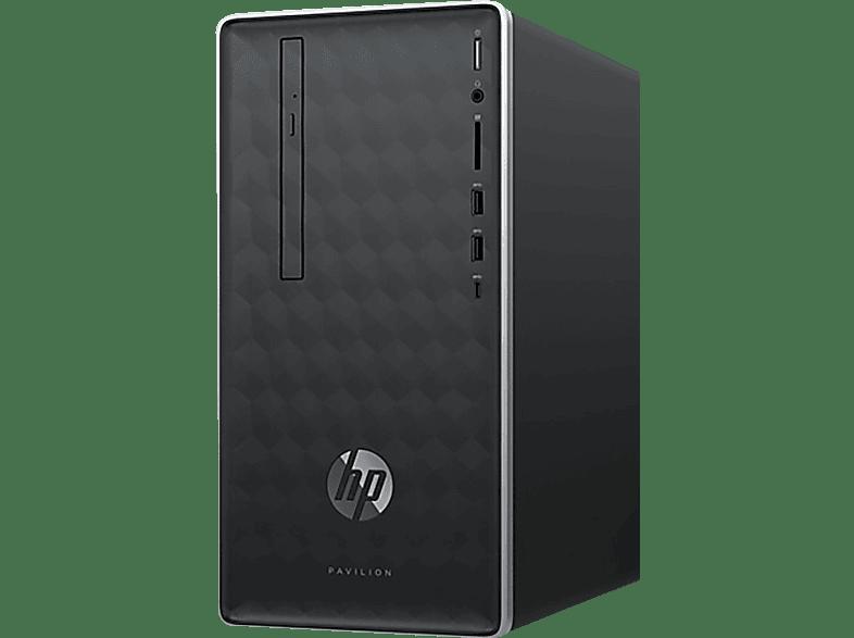 HP Pavilion 590-p0120ng, Desktop PC, Core™ i5 Prozessor, 8 GB RAM, 1 TB HDD, 128 GB SSD, GeForce® GTX 1050, Ash Silver
