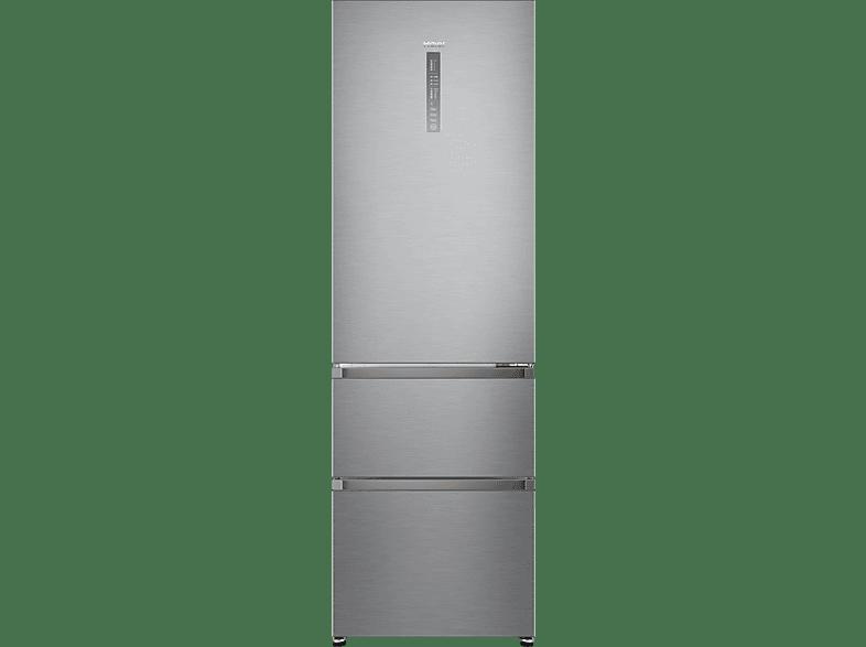 HAIER A3FE735CGJE  Kühlgefrierkombination (A++, 265 kWh/Jahr, 1905 mm hoch, Silbergrau)