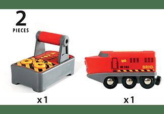 BRIO IR-Frachtlok batteriebetriebenes Spielzeug, Mehrfarbig