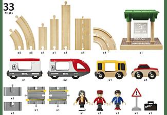 BRIO Strassen und Schienen Spielset, Mehrfarbig