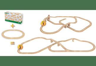 BRIO Grosses Schienensortiment Spielset, Naturfarben