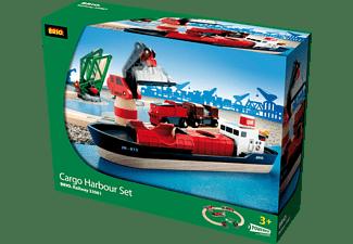 BRIO Container Hafen Set Spielset, Mehrfarbig