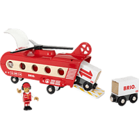 BRIO Eisenbahn-Transporthubschrauber Spielset, Mehrfarbig