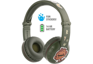 ONANOFF Casque audio Bluetooth pour enfants Buddyphones Play Amazon Green (BT-BP-PLAY-AMAZON)