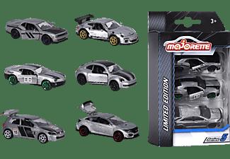 MAJORETTE Limited Edition 5, 3 Pieces Set, 2-sort. Spielzeugauto Silber/Schwarz