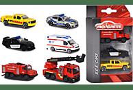 MAJORETTE S.O.S. 3 Pieces Set, 2-Sort. Spielzeugauto, Mehrfarbig