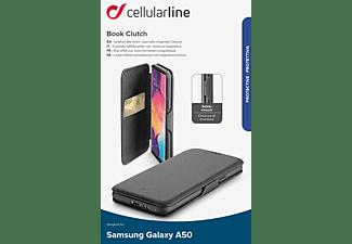 CELLULAR LINE BOOK Clutch, Bookcover, Samsung, Galaxy A50, Schwarz