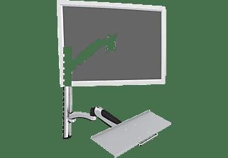 DIGITUS Monitor-/ Tastaturhalterung zur Wandmontage, 27 Zoll Monitor, max. 6kg pro Arm, Höhe 43-69cm, Silber
