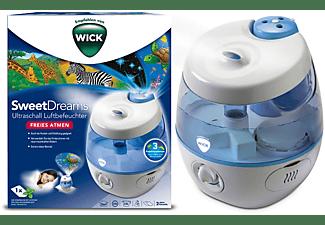 WICK WUL575E SweetDreams Ultraschall Luftbefeuchter Weiß/Blau (25 Watt, Raumgröße: 35 m²)