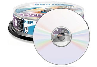 Bobina DVD-R - Philips DVD-R DM4S6B10F/00, 10 unidades, 4.7 GB