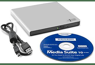 HITACHI-LG DVD Brenner GP57ES40, extern, silber, USB 2.0 (GP57ES40.AHLE10B)