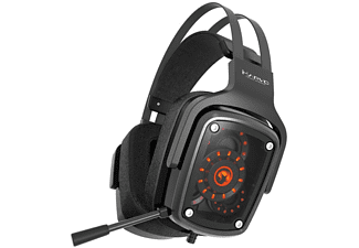 Auriculares Gaming - Scorpion MA-HG9046, 7.1 Real, 3 altavoces, Luz LED, Negro
