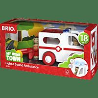 BRIO Krankenwagen mit Licht Spielzeugauto, Mehrfarbig