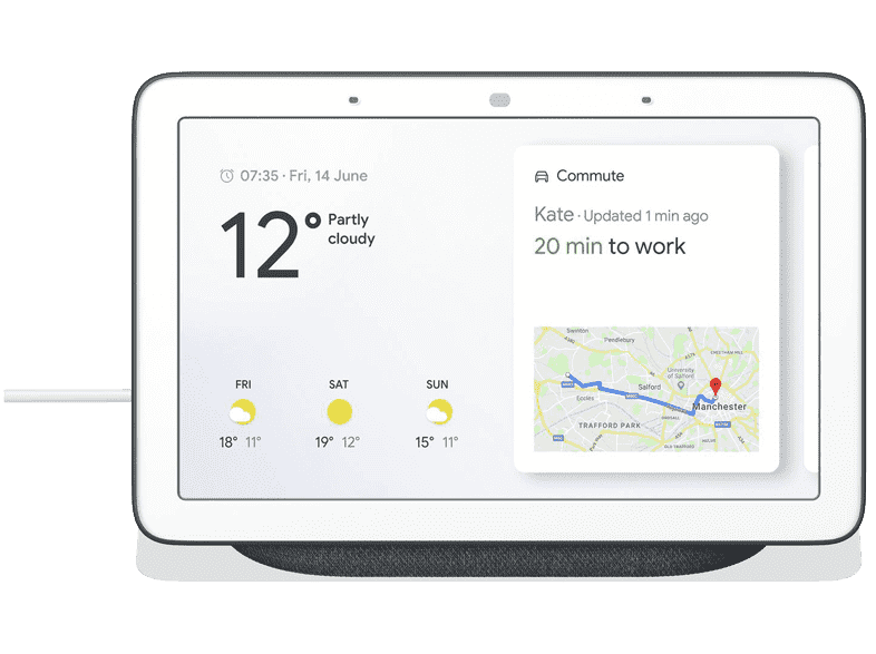 GOOGLE Home Nest Hub (charcoal) Svart