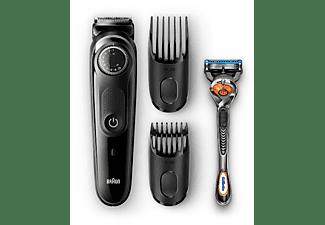 Barbero - Braun BT5042 - 2 Peines y maquinilla Gillette Fusion5 ProGlide, LED, Negro