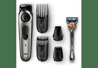 Barbero - Braun BT7020, con rueda de precisión, 4 accesorios y afeitadora Gillette Fusion5 ProGlide