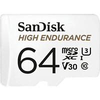 SANDISK High Endurance, Micro-SDXC Speicherkarte, 64 GB, 100 MB/s