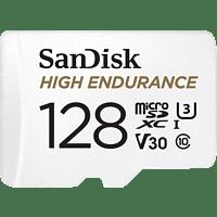 SANDISK High Endurance, Micro-SDXC Speicherkarte, 128 GB, 100 MB/s