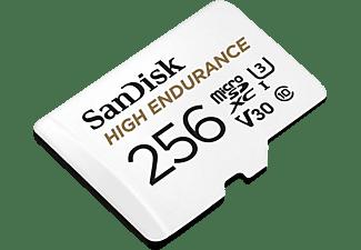 SANDISK High Endurance, Micro-SDXC Speicherkarte, 256 GB, 100 MB/s