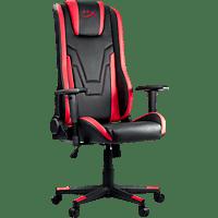 NORDIC GAME SUPPLY HX-367504 Gaming Stuhl, Schwarz/Rot
