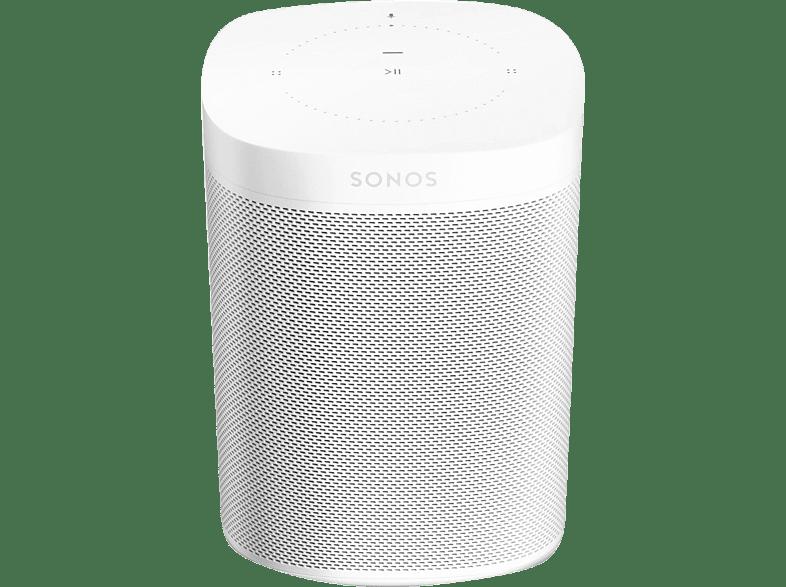 SONOS One Gen2 - Smart Speaker (App-steuerbar, W-LAN Schnittstelle, Weiß)