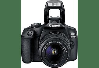 CANON Spiegelreflexkamera EOS 2000D mit EF-S 18-55mm 3.5-5.6 III, Tasche SB130 und 16GB Speicherkarte