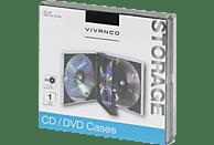 VIVANCO Jewel Case Archivierung CDs und DVDs Schwarz