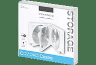 VIVANCO Jewel Case Archivierung CDs und DVDs Transparent