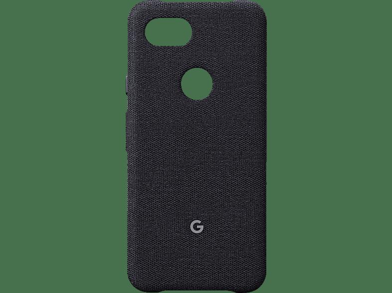 GOOGLE Case Backcover Google Pixel 3a Kunststoff/Stoff Graphit
