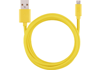 ISY IFC-1800-YL-M, Micro-USB Ladekabel, 1,8 m, Gelb