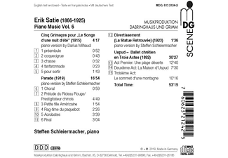 Steffen Schleiermacher - Klaviermusik Vol.6  - (CD)