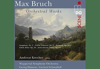 Andreas Krecher, Wuppertal Symphony Orchestra - Violinkonzert 3/Sinfonie 2/Schwed.Tänze/+  - (CD)