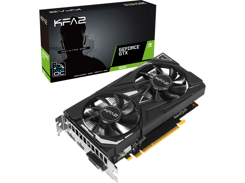 KFA2 GeForce® GTX 1650 EX OC 4 GB (65SQH8DS08EK) (NVIDIA, Grafikkarte)