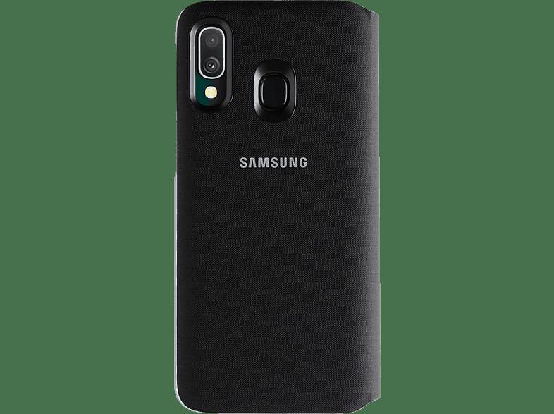 SAMSUNG Flip Cover mit Visitenkartenfach , Bookcover, Samsung, Galaxy A40, Kunststoff, Schwarz