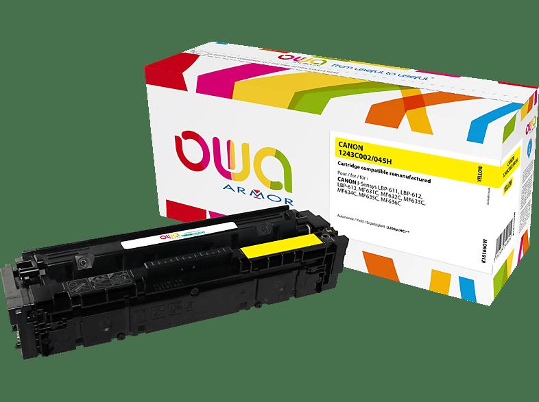OWA Toner K18166OW ersetzt Canon (1243C002) 045H Tonerkartusche Gelb