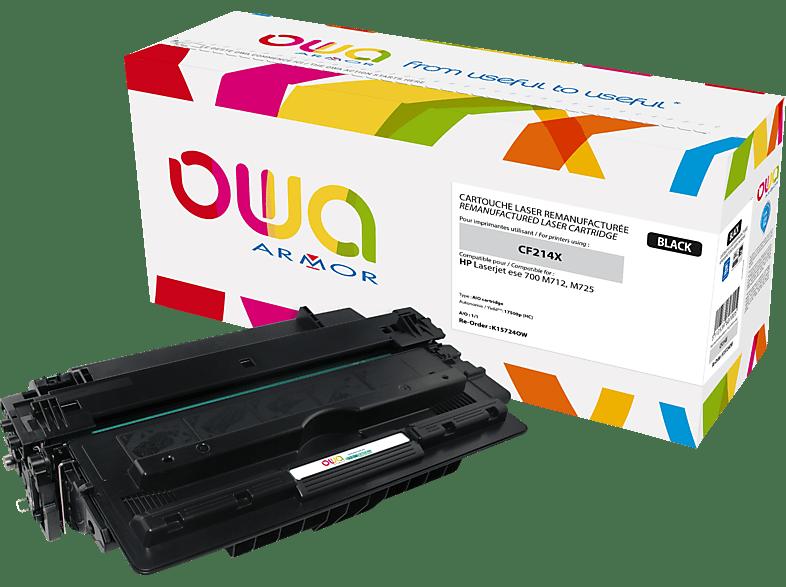 OWA K15724OW ersetzt HP CF214X / 14X Tonerkartusche Schwarz