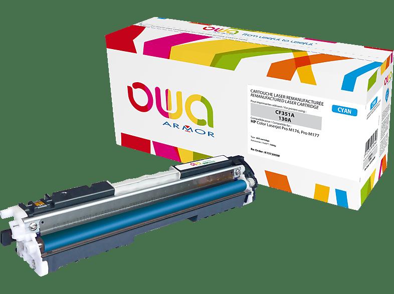 OWA K15729OW ersetzt HP CF351A / 130A Tonerkartusche Cyan