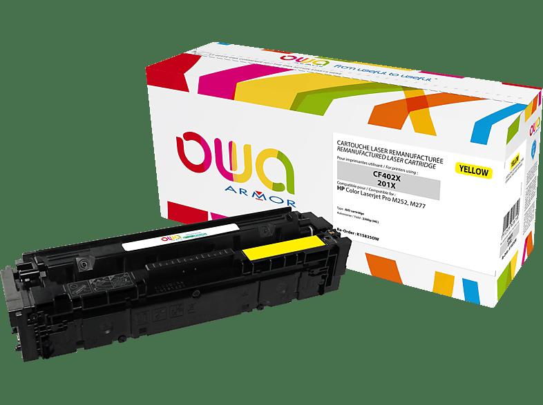 OWA Toner K15835OW ersetzt HP CF402X / 201X Tonerkartusche Gelb